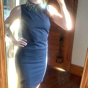 Dresses & Skirts - Navy Blue Embellished Cocktail Dress